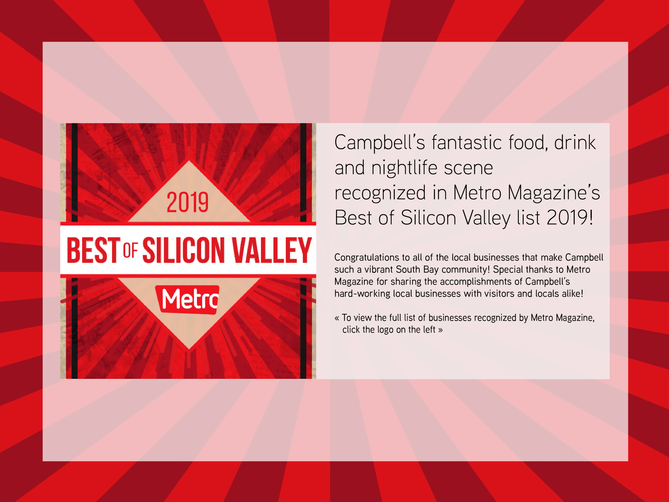 Metro Best of Silicon Valley 2019
