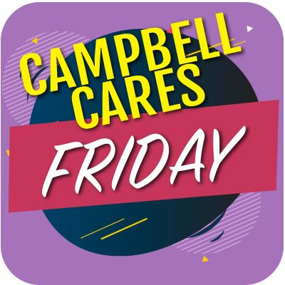 Campbell Cares Friday Button