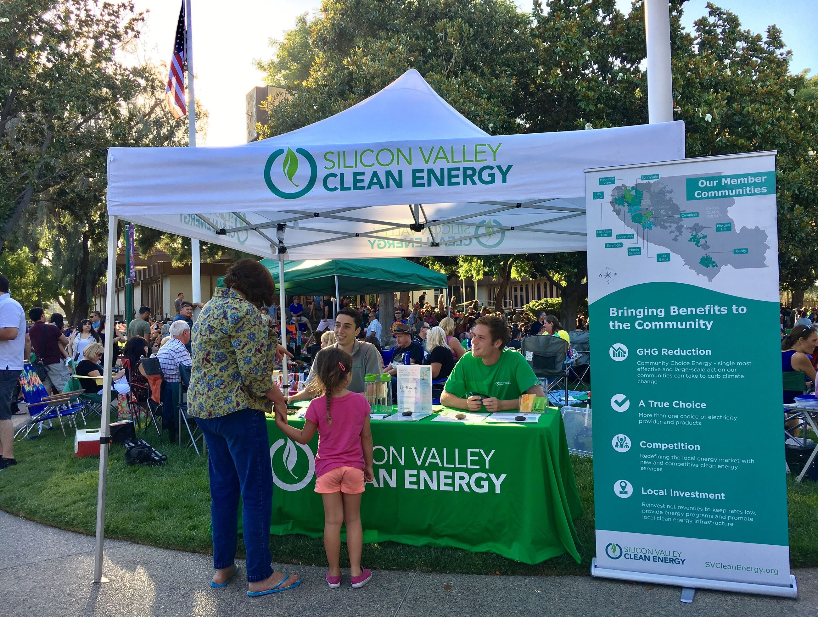 Silicon Valley Clean Energy at a Campbell community event.