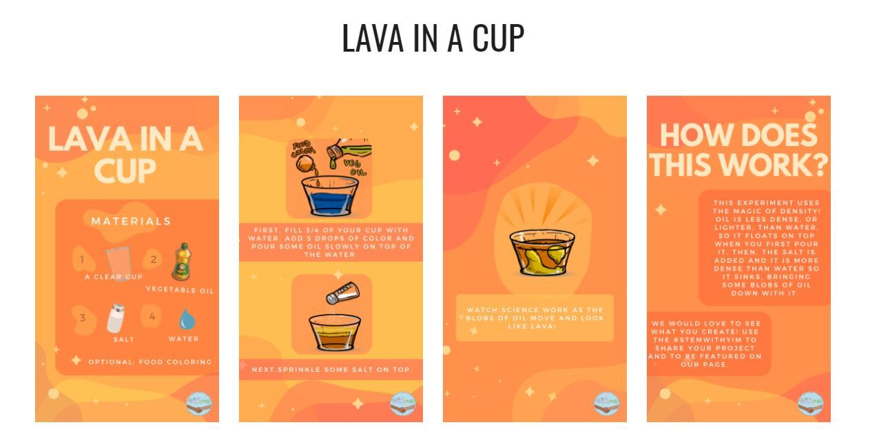 lava in a cup