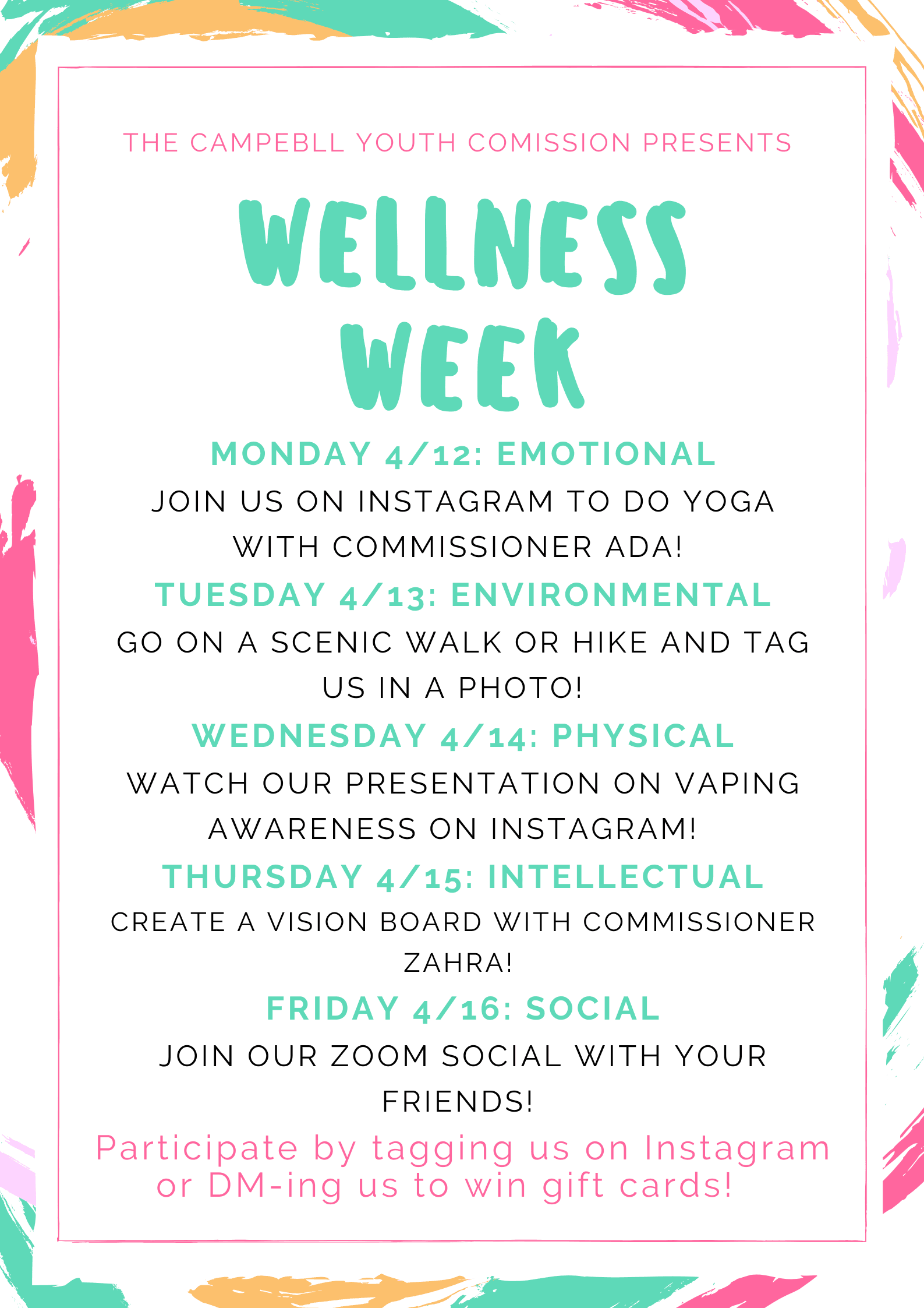 wellness week poster