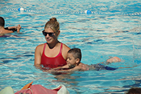 Swim Lessons offered to tiny tots ages 3-5 years at the Campbell Community Center pool