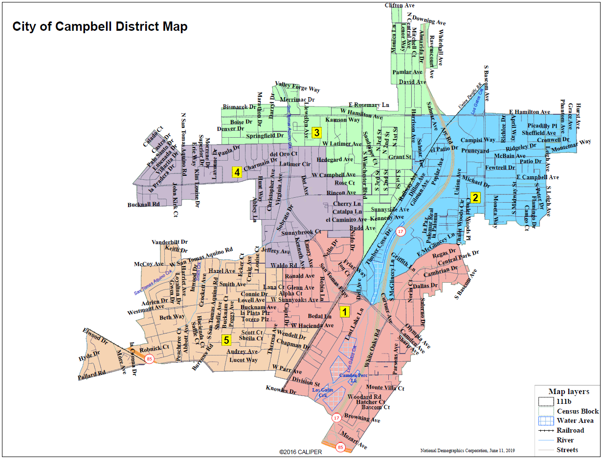 District Map -City of Campbell