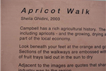 Apricot Walk Plaque